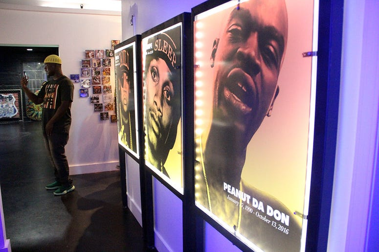 Photos of murdered trap rappers Peanut Da Don, Lil' Snupe and Doe B inside T.I.'s Trap Music Museum