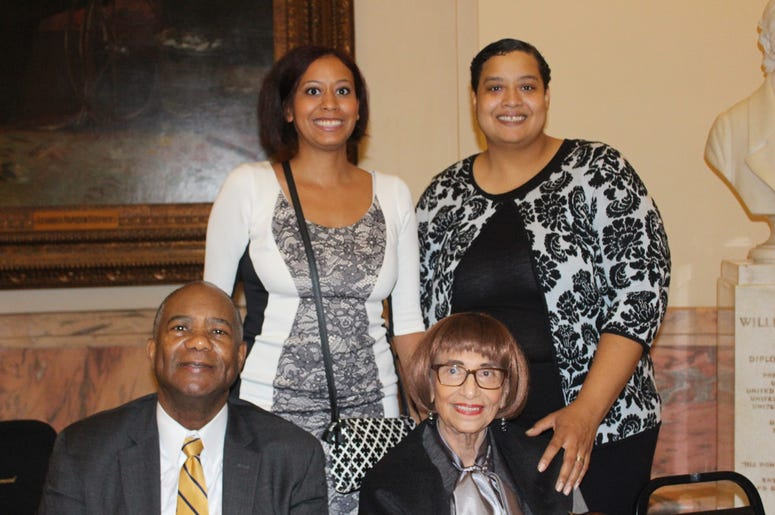 The family of former GA State Senator Leroy Johnson during Thursday's Capitol service