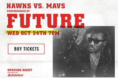 Future performs at the Atlanta Hawks Opening Night at State Farm Arena