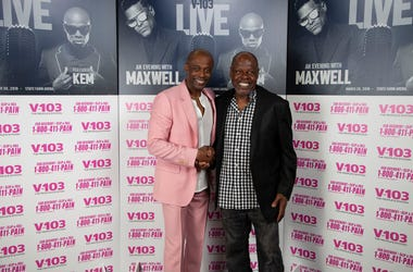 Kem Meets Fans Backstage At V-103 Live Concert In Atlanta