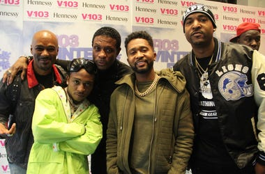 Big Tigger, Jacquees, Keith Sweat, Zaytoven and DJ Infamous at the 2018 #V103Winterfest in Atlanta