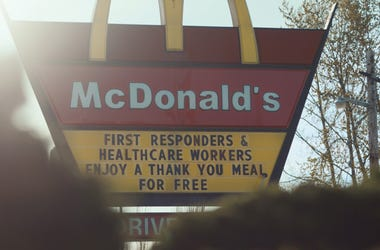 MCDONALD'S FRONT LINE HEROES THANK YOU MEALS