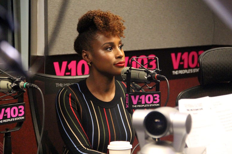 "Issa Rae of the movie ""Little"" visits V-103's The Morning Culture with Frank Ski, Jade Novah & JR"