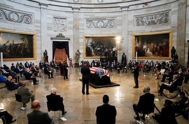 A ceremony is held at the U.S. Capitol for Congressman John Lewis