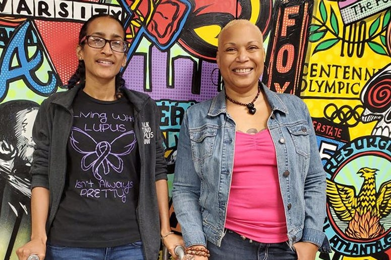Adrienne Allende (l) and Joelle May are among Atlantans living with Lupus