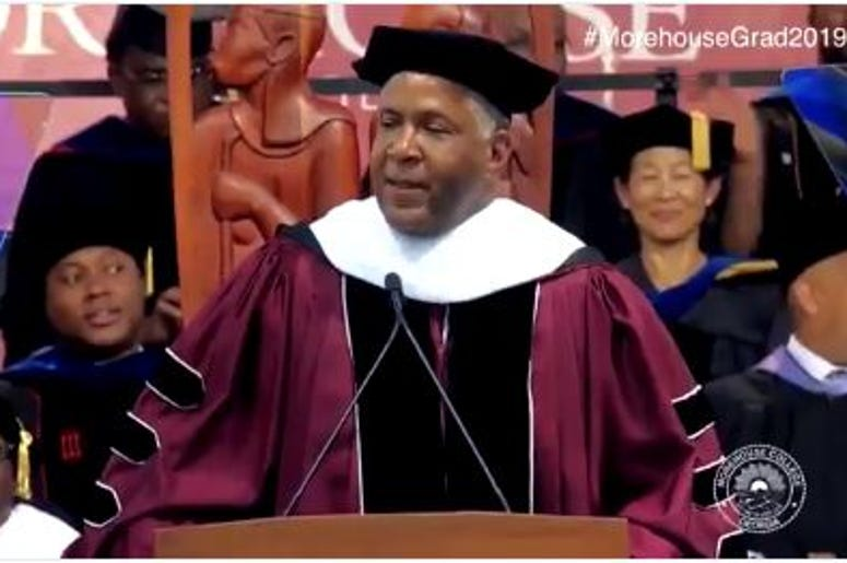 There were looks of surprise when Dr. Robert Smith announced a plan to pay off the Morehouse graduates' debts.