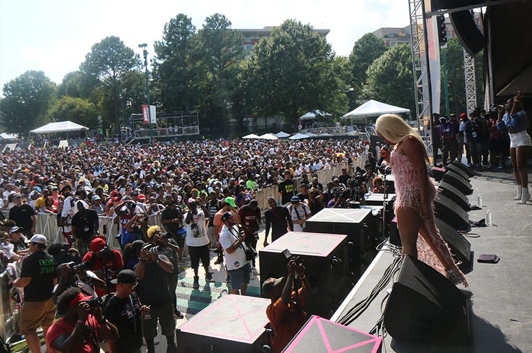 Trina on Stage At One Music Fest 2019