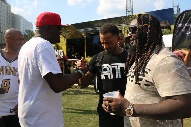 Greg Street & T-Pain Backstage At One Music Fest 2019