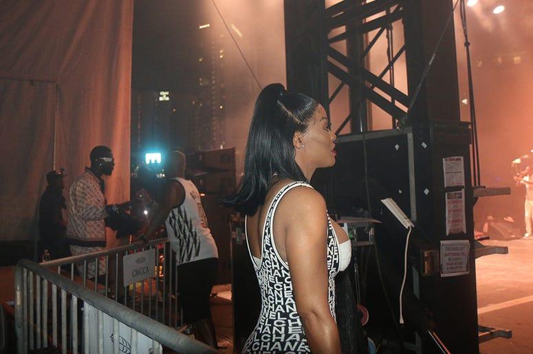 Big Tigger & Keyshia Kaoir Davis Backstage At One Music Fest
