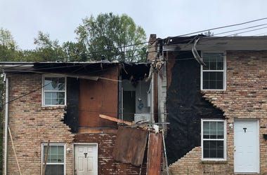 A plane crash left damage to a townhome in DeKalb County