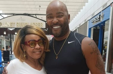 Atlanta radio legend Ryan Cameron, shown with Radio.com's Maria Boynton during a Ryan Cameron Foundation Health Fair, says he has a long recovery following emergency surgery