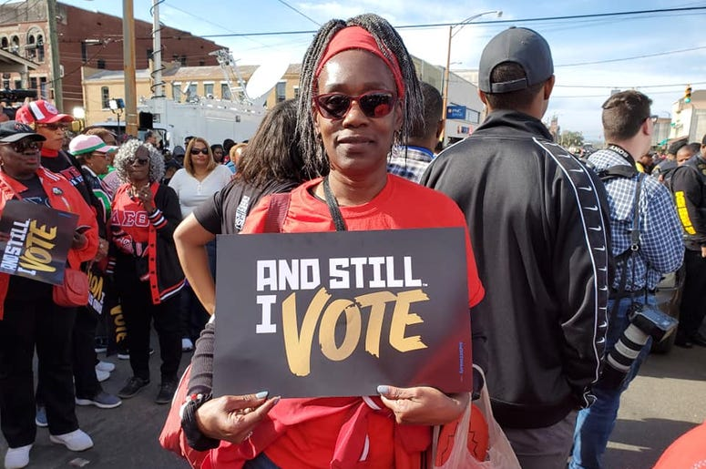 Many thousands were in Selma, Alabama celebrating the fight for voting rights