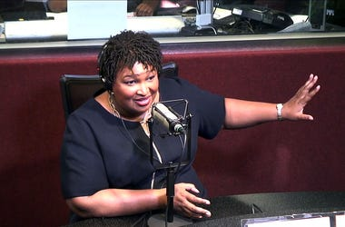 Stacey Abrams visits V-103's Frank and Wanda In The Morning; Sept. 18, 2018