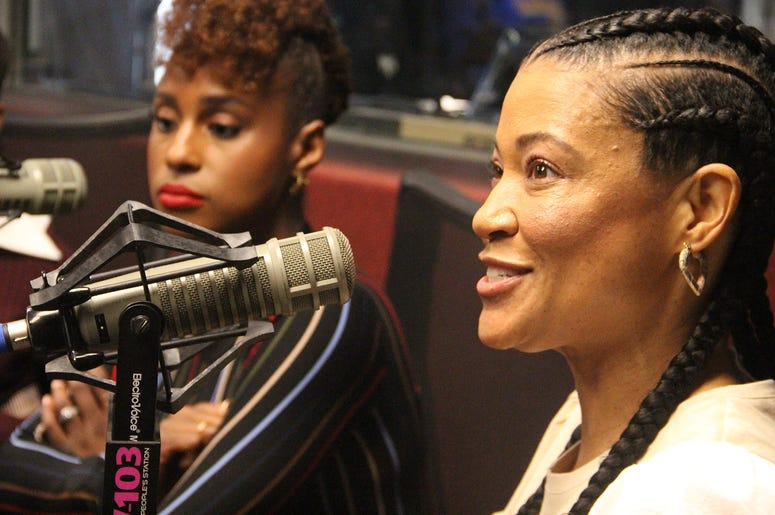 """Little"" director Tina Gordon and Issa Rae visit V-103's The Morning Culture with Frank Ski, Jade Novah & JR"