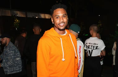 Trey Songz attends Lil Wayne's 36th birthday party and Carter V release at HUBBLE on September 27, 2018 in Los Angeles, California