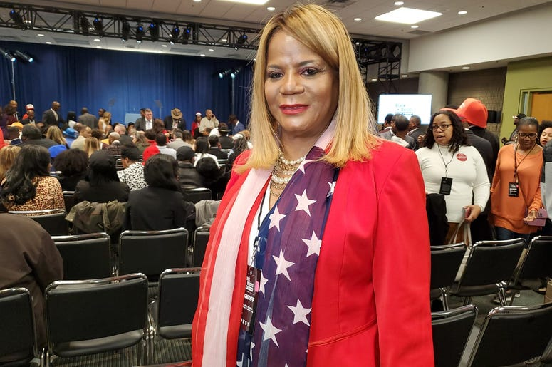 Paulette Smith said she attended Friday to celebrate Trump for all the great things he's done for the country