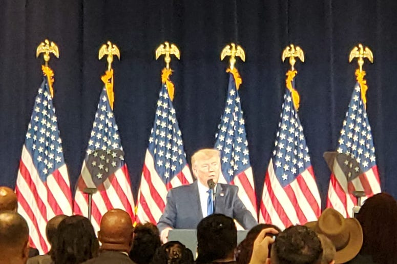 President Trump unveiled his Black Voices Initiative in Atlanta Friday
