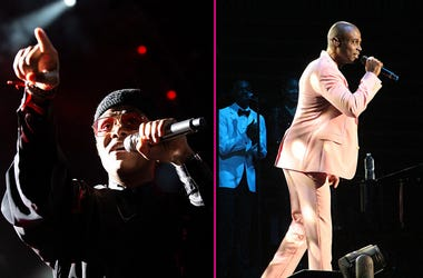 Maxwell and Kem performing at V-103 LIVE on Saturday, March 30, 2019, at State Farm Arena in Atlanta