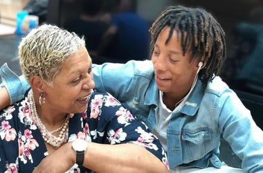 Vincent Truitt (r) is seen in a photo with his grandmother