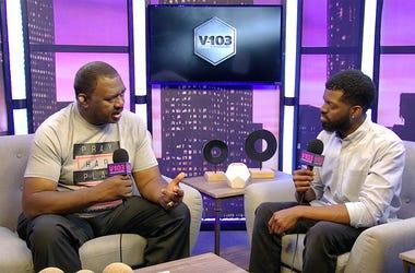 JR of V-103's The Morning Culture talks to former NFL linebacker Willie Blackwell