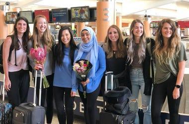 Students return home
