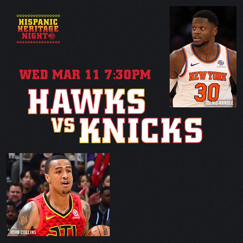 Atlanta Hawks vs New York Knicks