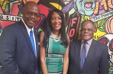 Fulton County D.A. Paul Howard, Commissioner Natalie Hall, and Public Defender Vernon Pitts support juvenile recidivism program
