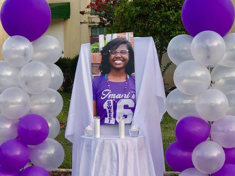 A vigil was held on August 21 for Imani Bell who died after school conditioning drills in Jonesboro