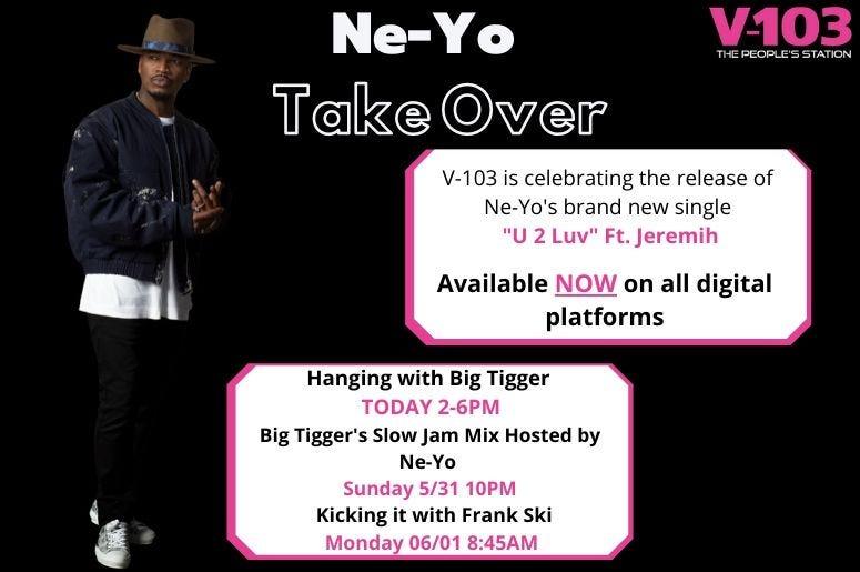 NeYo new single release V103 takeover