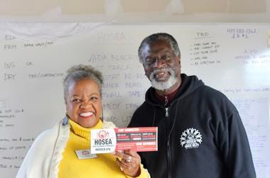 Elisabeth and Afemo Omilami work together to keep Hosea Helps serving the metro Atlanta area