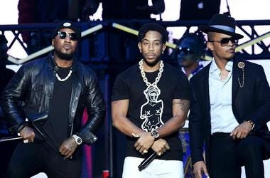 Jeezy, Ludacris and T.I. at the Bud Light Super Bowl Music Fest