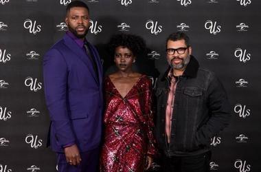 Winston Duke, Lupita Nyong'o and Jordan Peele