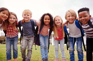 Kids wit Backpacks