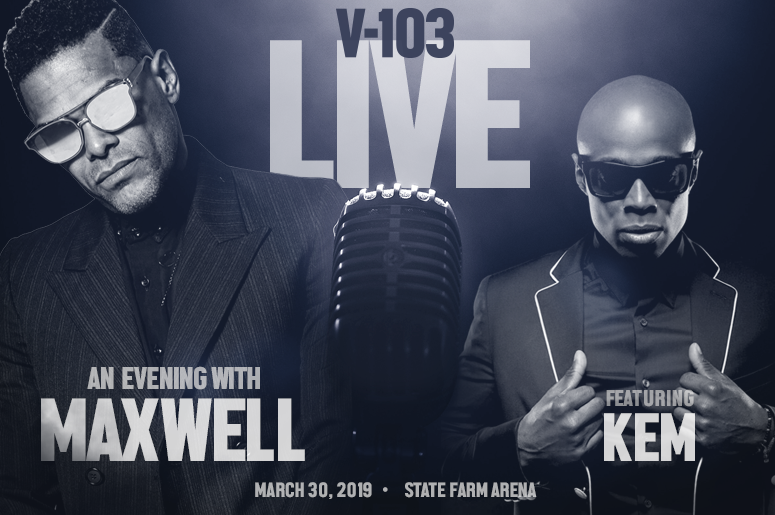 V-103 LIVE: An Evening With MAXWELL Featuring KEM!