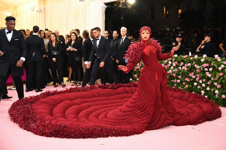 Cardi B attends the 2019 Met Gala
