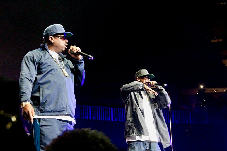Tha Dogg Pound perform at Atlanta's State Farm Arena during the Puff Puff Pass Tour