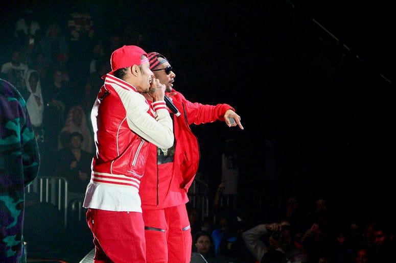 Bone Thugs-N-Harmony perform at Atlanta's State Farm Arena during the Puff Puff Pass Tour