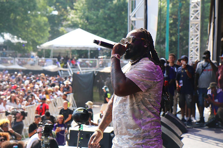 T Pain on Stage At One Music Fest 2019
