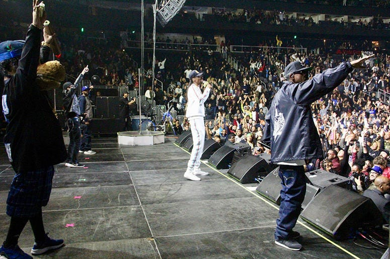 Snoop Dogg performs at Atlanta's State Farm Arena during the Puff Puff Pass Tour