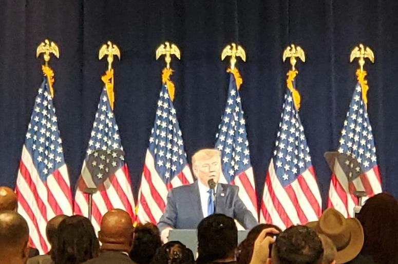 President Trump unveiled his Black Voices Initiative in Atlanta Friday