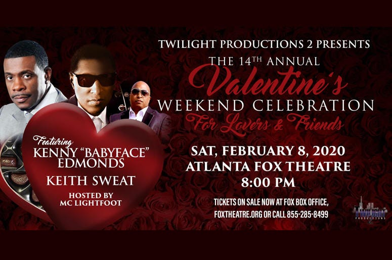 """Kenny """"Babyface"""" Edmonds and Keith Sweat's 14th Annual Valentine's Weekend Celebration for """"Lovers and Friends"""""""