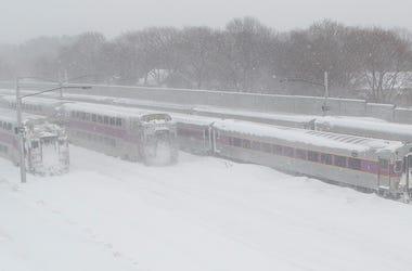 MBTA Commuter Rail Boston Snow