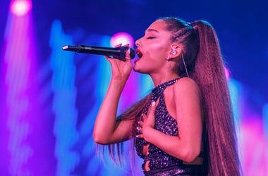 Ariana Grande performs onstage