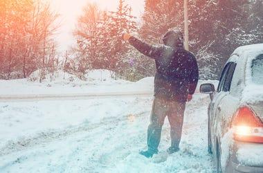 Car help snow