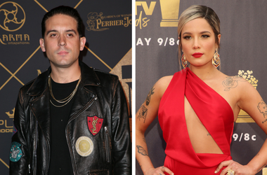 25 June 2017 - Hollywood, California - G-Eazy. 2017 MAXIM Hot 100 Party held at the Hollywood Palladium. / 16 June 2018- Santa Monica, California - Halsey. 2018 MTV Movie And TV Awards held at Barker Hangar.