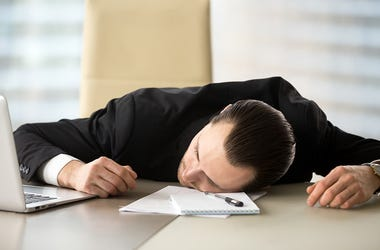 Sleep At Work Desk