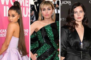 Ariana Grande Miley Cyrus Lana Del Ray