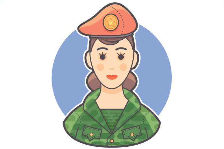 Woman In Army