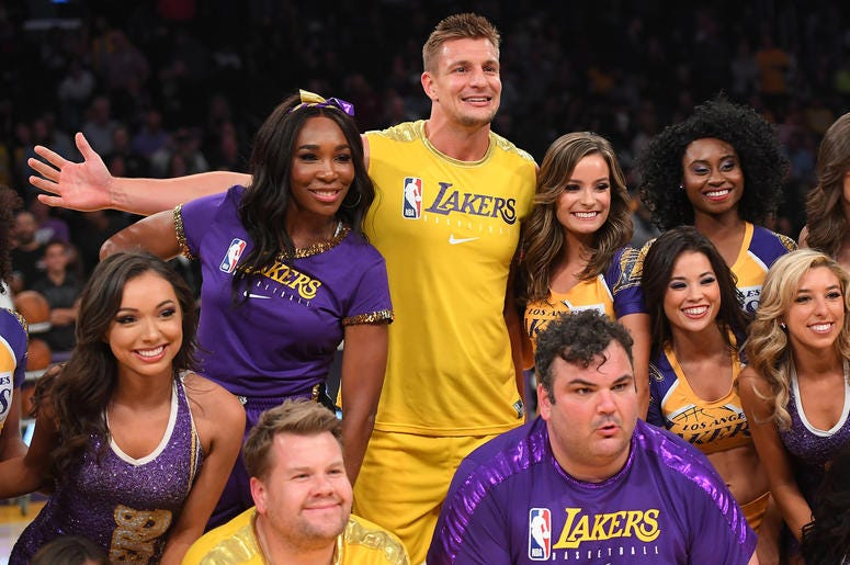 Rob Gronkowski Dances With Lakers Girls Mix 104 1