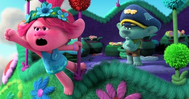 """(from left) Poppy (Anna Kendrick) and Branch (Justin Timberlake) in DreamWorks Animation's """"Trolls World Tour,"""" directed by Walt Dohrn."""